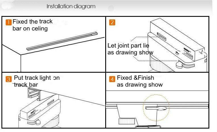 Installation guides led light manufacturer led downlights ip65 instruction led track light mozeypictures Image collections