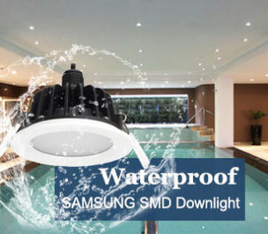 waterproof led downlights1 300x262 - IP65 Bathroom LED Downlight