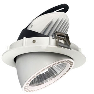 50w Cob Led Downlight Commercial Led Cob Gimbal Adjustable Light - 7~50W  LED Gimbal Downlights