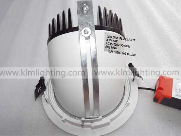 20w 25w 30w led gimbal downlight - LED Gimbal Downlight EU Plug