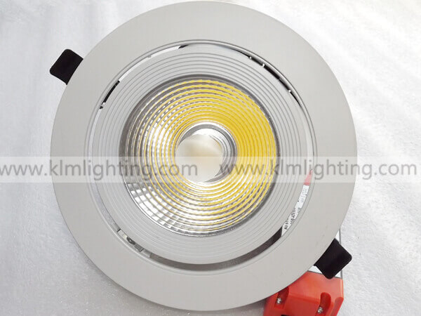30W Gimbal COB LED Recessed Downlight 1 - LED Gimbal Downlight EU Plug