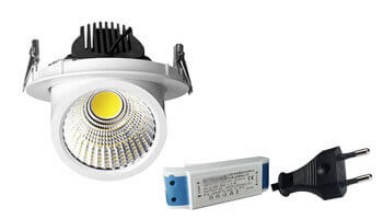 Led gimbal downlight EU Plug