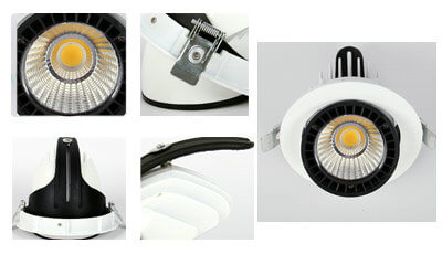 led recessed gimbal shop light