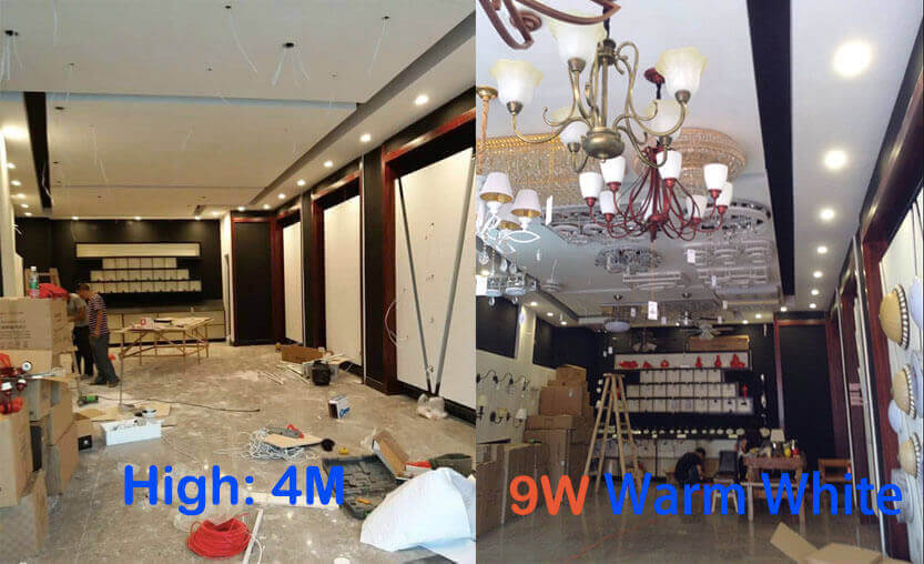 led smd downlights Project for lighting show room1 - Led SMD Downlights Project - Lighting show room
