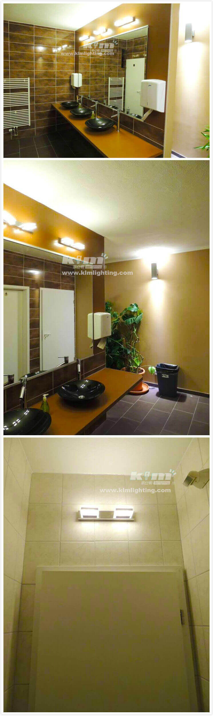 LED mirrow light application for toliet