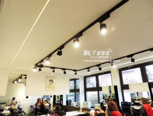 Cree led track light project for barber shop