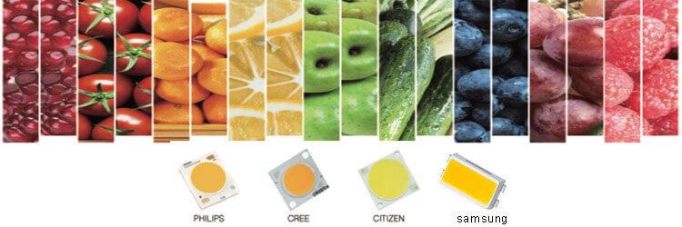 led CRI and color