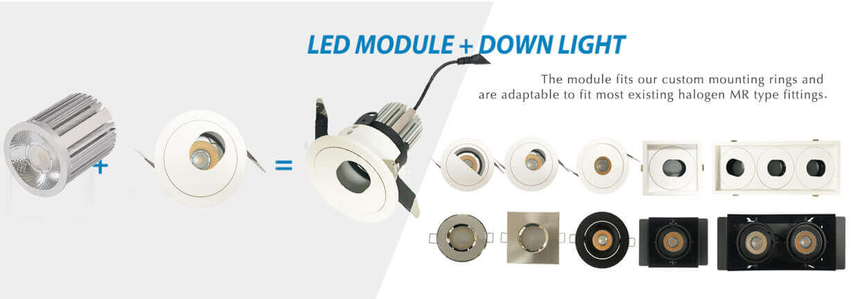 IP20 led module downlight MR module