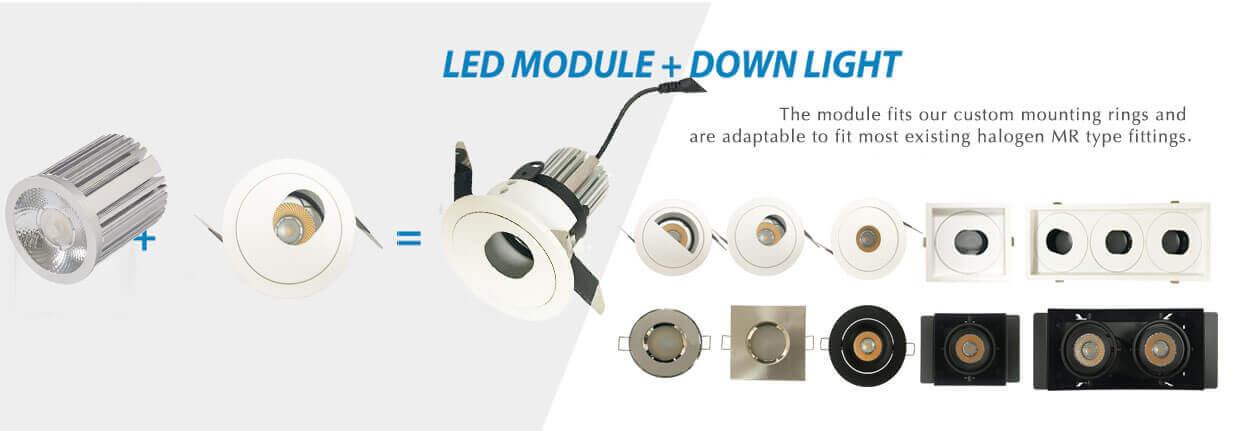 IP20 led module downlight MR module
