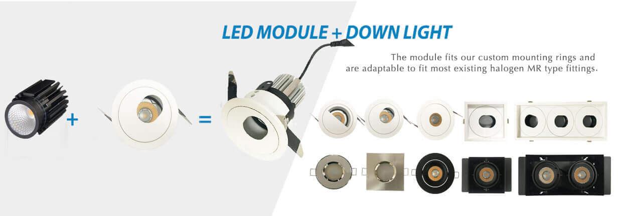 IP65 bathroom led module dowlight mr16 module