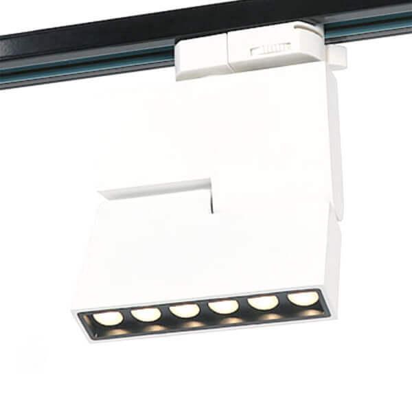 Rotated Square LED Track Light