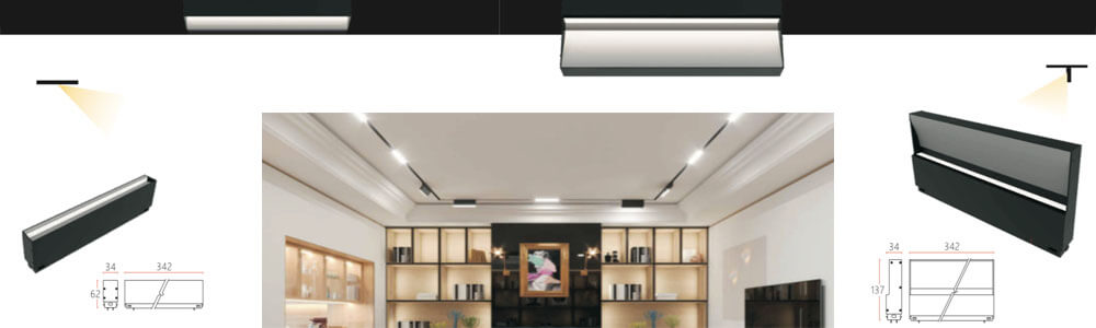 magnetic led wall washer linear light 24v 34mm - 34MM Magnetic Linear Architectural Lighting System