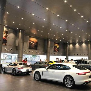 4000k 25w led cob spot light for porsche lighting project 300x300 - Lighting Project for PORSCHE Showroom