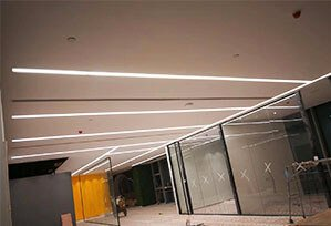Seamless recessed linear light application 299x204 - Seamless Linear Lighting Project for Business office