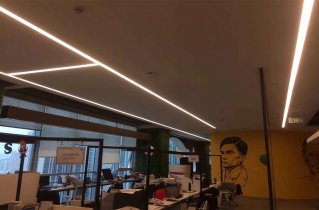 seamless linear lighting for office 319x210 - Seamless Linear Lighting Project for Business office