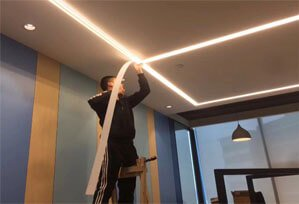 seamless recessed office led linear light 6533 299x204 - Seamless Linear Lighting Project for Business office