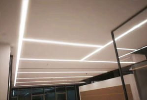 seamless suspend led linear light 299x204 - Seamless Linear Lighting Project for Business office