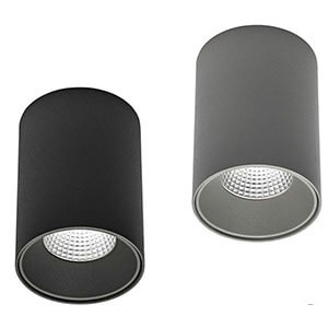 grey and black color surface downlight - Anti-Glare Surface Mount Down lights