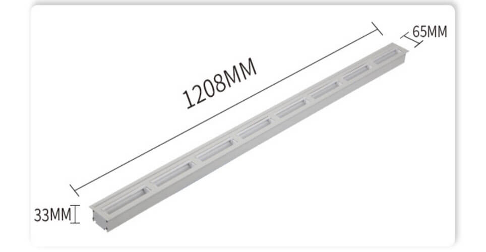 1.2M 40W Recessed LED Wall Wash Linear light - Recessed Wall Washer Linear Lighting