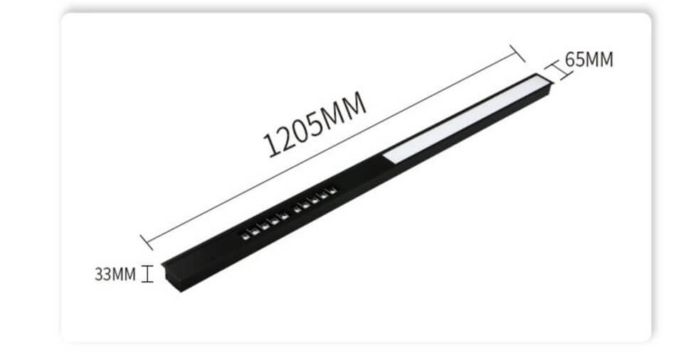 1.2m 30W LED Linear Recessed Lighting Fixtures  - 6533 Recessed Linear Light