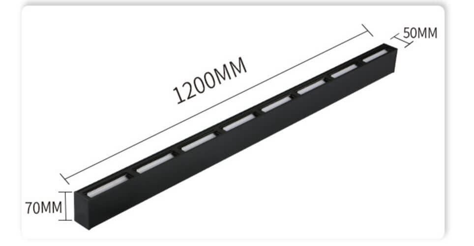 1.2m 40w LED Wall Washer LINEAR SUSPENDED - 5070 Wall Washer Linear Light