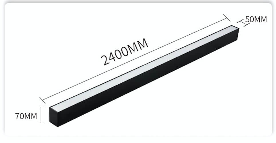 2.4m 5070 LED Linear Suspension Lighting - 5070 PC Suspension Linear Light