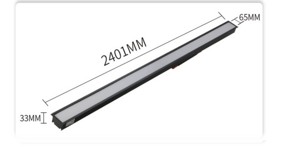 2.4m recessed linear led lighting - Recess Mounted PC Linear LED Light