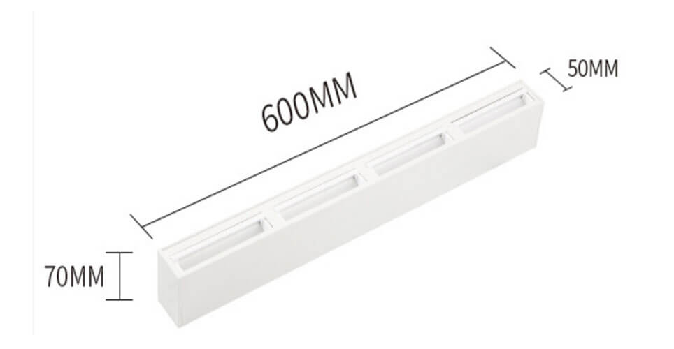 20W Linear LED Wall Washers in White - 5070 Wall Washer Linear Light