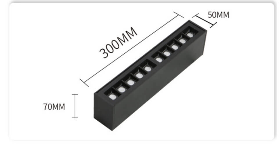 20w LED Linear Ceiling Mount  - 5070 Surface Linear Light