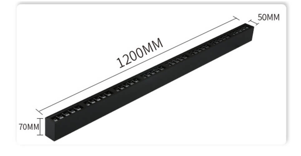 40W 1.2M Surface Accent Linear Light - 5070 Suspension Accent Linear Light