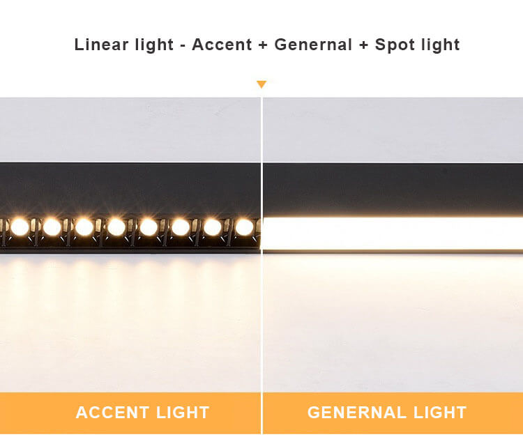 5070 LED Linear light include Accent with Genernal with Spot light - 5070 Combined LED Linear Light