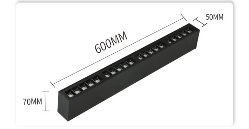 5070 Surface accent mounted light fixture - 5070 Surface Linear Light
