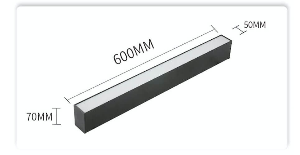 600mm LED Linear Suspension Lighting  - 5070 PC Suspension Linear Light
