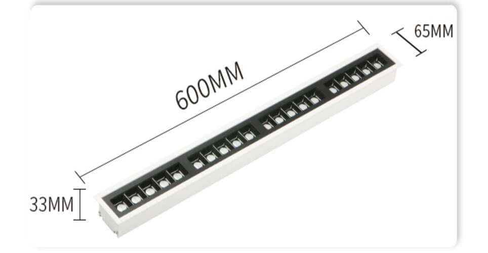 Recessed LED Linear Lights Office Lighting Manufacturer - Recessed Linear Light Anti Glare