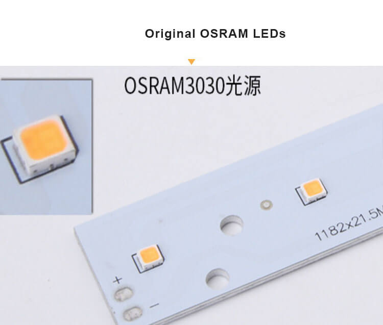 Surface linear light with OSRAM 3030 - Suspended Linear Light Anti Glare