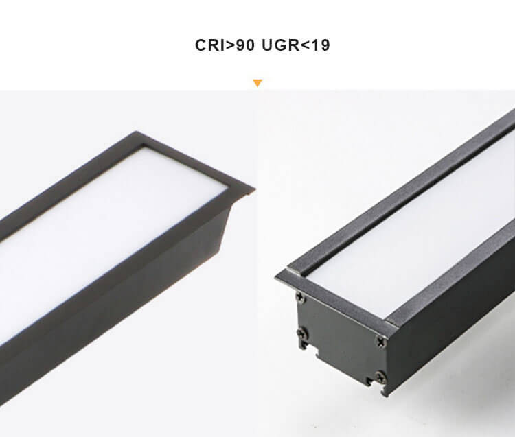 recessed led linear light for office lighting - Recessed Linear Office LED
