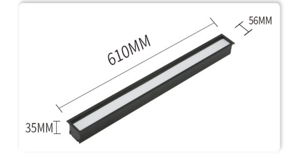 0.6m Recessed seamless Linear LED Panel Light - Recessed Linear Office LED