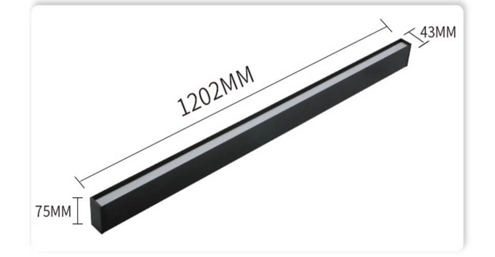 1.2m Architectural LED Linear Surface Mount Direct Down Light Fixture - Surface Led Modern Linear Lights