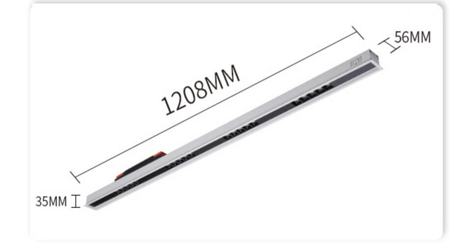 1.2m dimamble recessed LED Linear Lighting - UGR<19 Led Linear Ceiling Light
