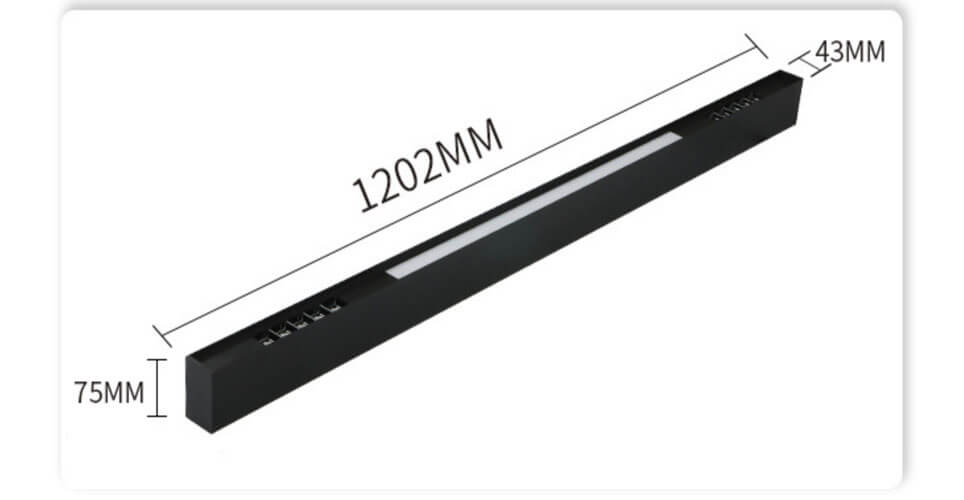 1200mm Combination LED Linear Light with Reflector Optic System - Combinations Linear Lighting Systems