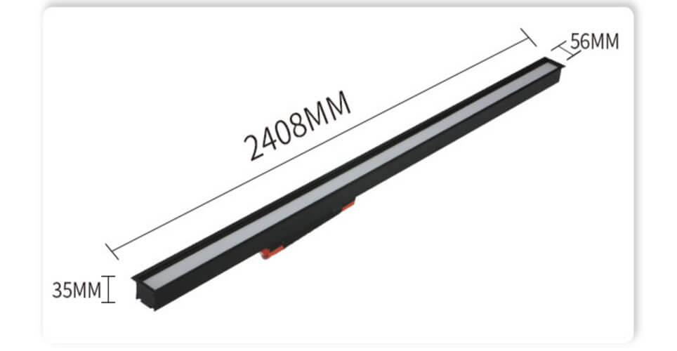 2.4M Custom LED Linear Light for modern office - Recessed Linear Office LED