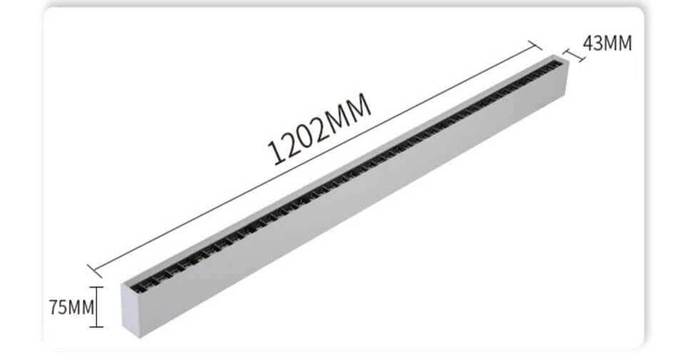 40W 1.2m LED Linear Spotlight Downlight - Surface Mounted Led Linear Lighting