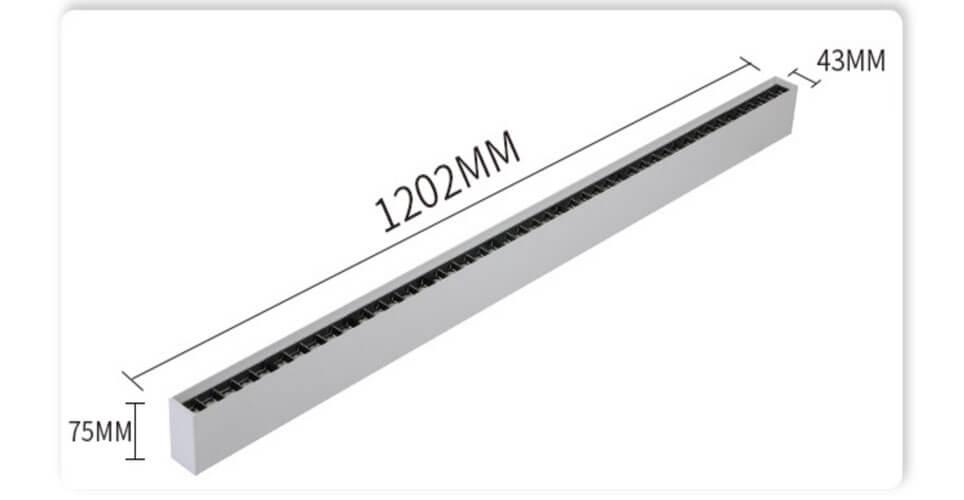 40W 1.2m LED Linear Spotlight Downlight
