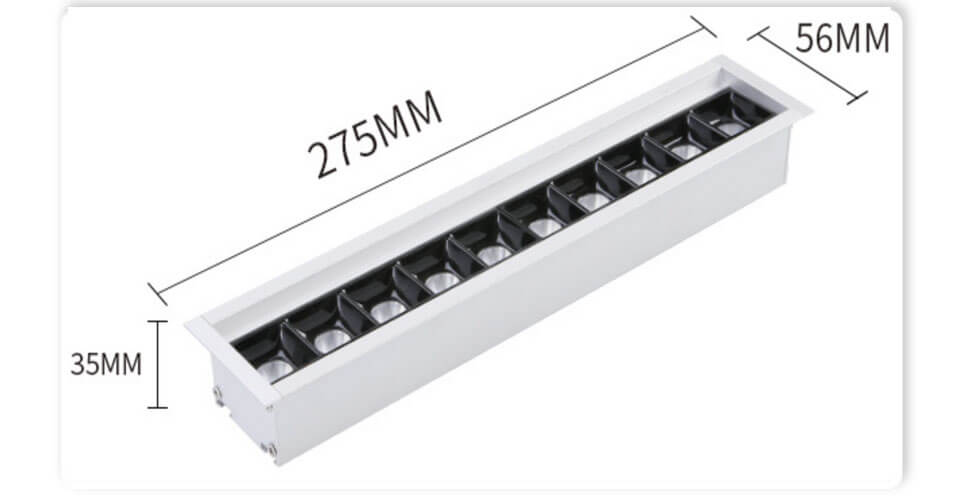 Customized Low Glare UGR19 LED Refective Linear Light - Recessed Led Modular Linear Light Kit