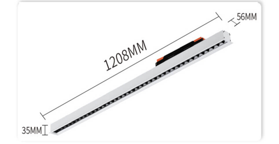 UGR19 linear light 1.2m 30W 40W combines linear light - UGR<19 Led Linear Ceiling Light
