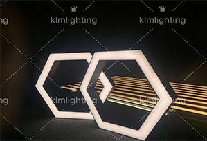 hexagon led pendant lights 299x204 - Modern office hexagon led pendant lights