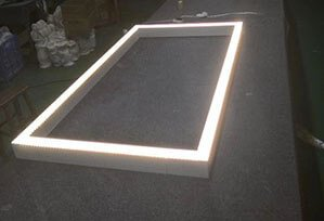 Aluminium Profile Square and Rectangular LED Linear Light 299x204 - Suspended LED Rectangle Linear light fitting