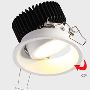 Hot sale down light Hotel downlight - Adjustable recessed frosted cob led downlight