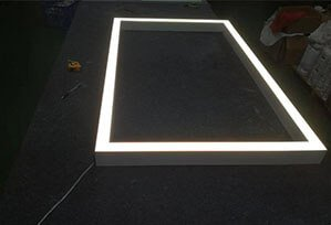 Square rectangle led Linear downlight direct indirect downlight 299x204 - Suspended LED Rectangle Linear light fitting