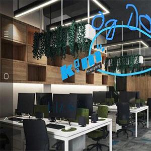 U type led linear light for office lighting design